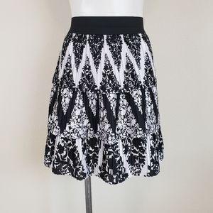 WHBM Black and White Layered Skirt, Size M